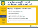 how do nonprofits recruit candidates to fill openings12