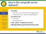 how is the nonprofit sector defined