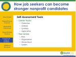 how job seekers can become stronger nonprofit candidates