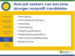 how job seekers can become stronger nonprofit candidates18
