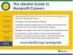 the idealist guide to nonprofit careers