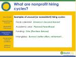 what are nonprofit hiring cycles