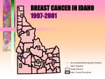 breast cancer in idaho 1997 2001
