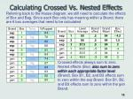 calculating crossed vs nested effects18
