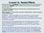 crossed vs nested effects