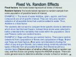fixed vs random effects
