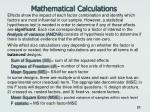 mathematical calculations