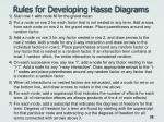 rules for developing hasse diagrams