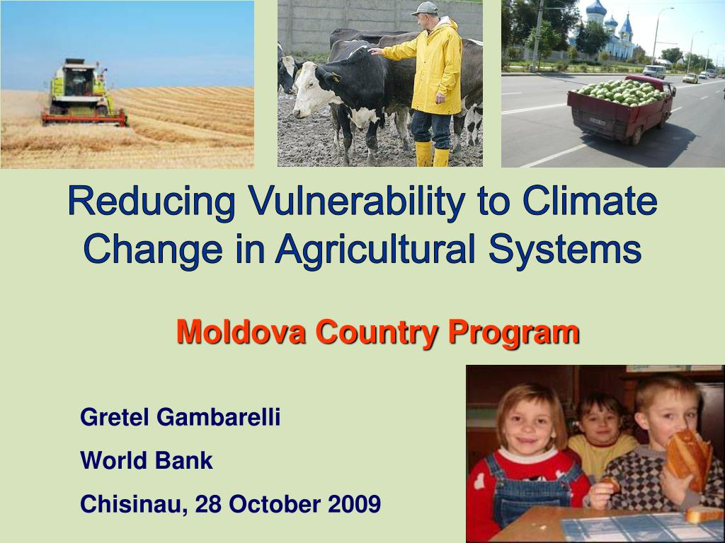 Reducing Vulnerability to Climate Change in Agricultural Systems
