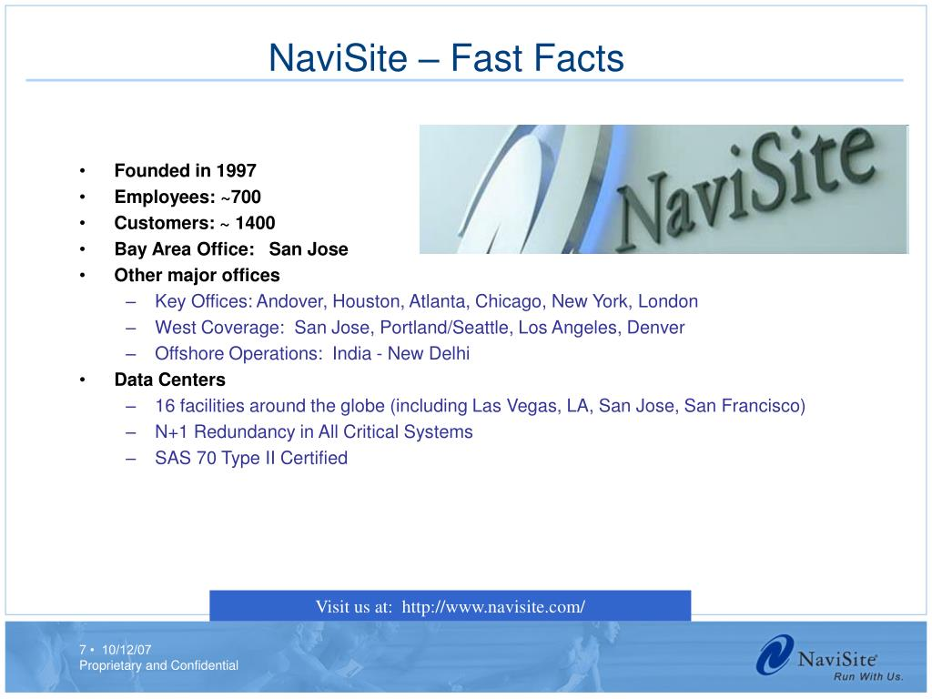 NaviSite – Fast Facts