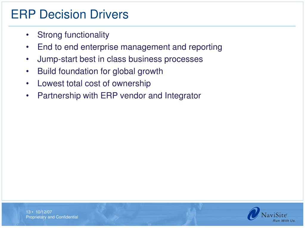 ERP Decision Drivers