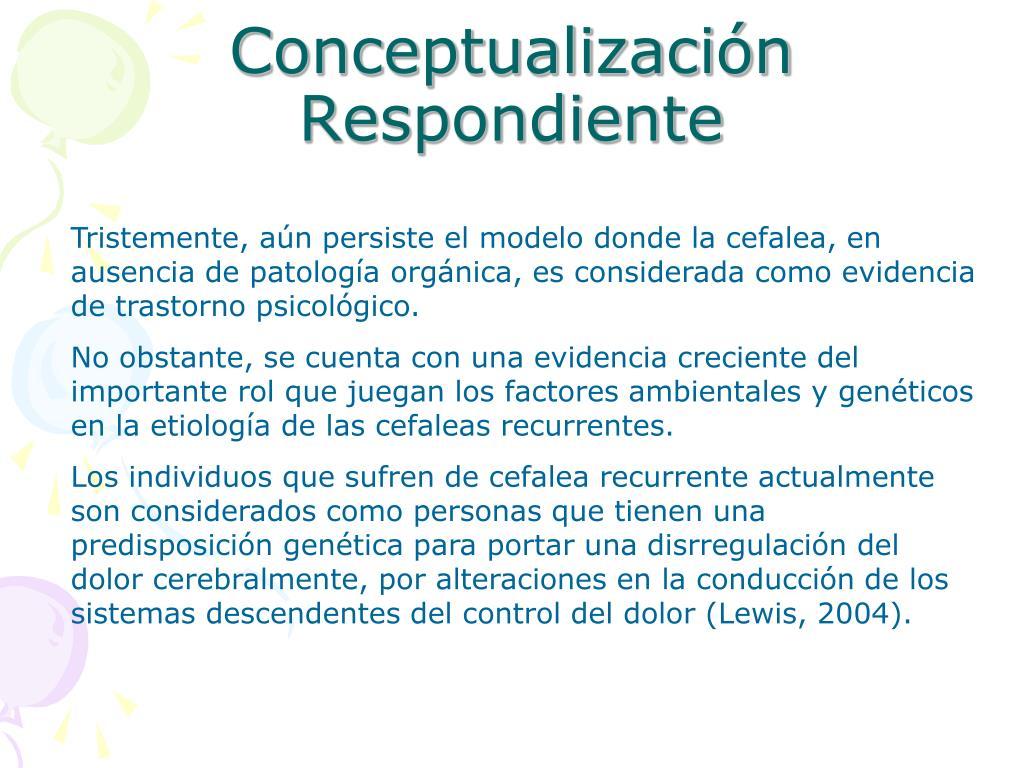 Conceptualización Respondiente