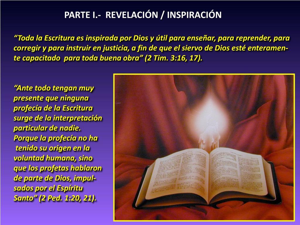 PARTE I.-  REVELACIÓN / INSPIRACIÓN
