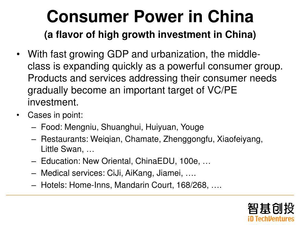 Consumer Power in China