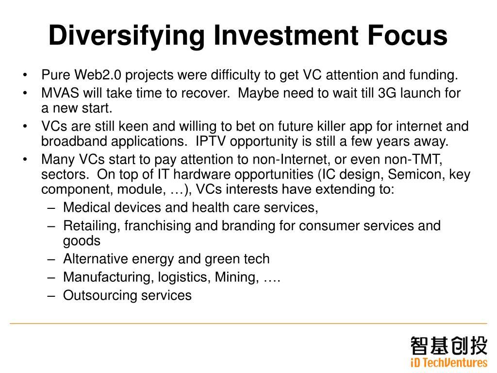 Diversifying Investment Focus