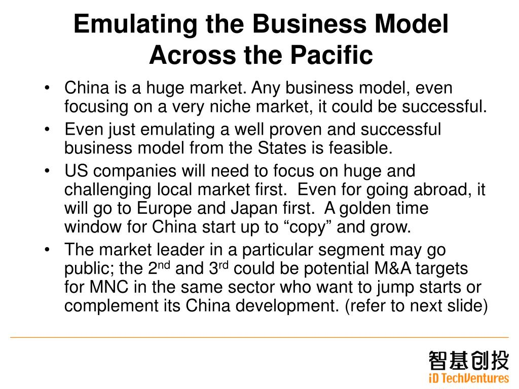 Emulating the Business Model Across the Pacific