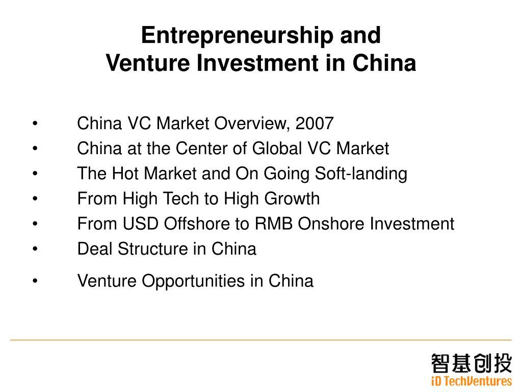Entrepreneurship and