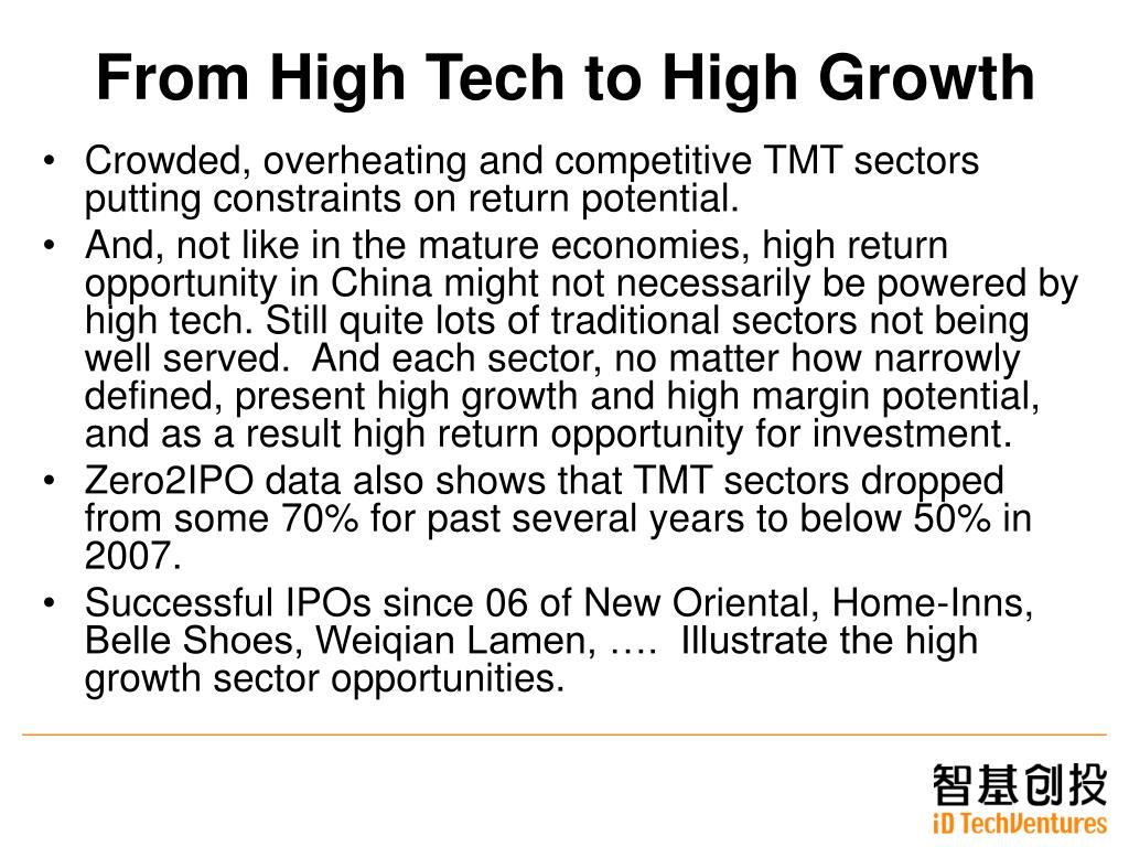 From High Tech to High Growth