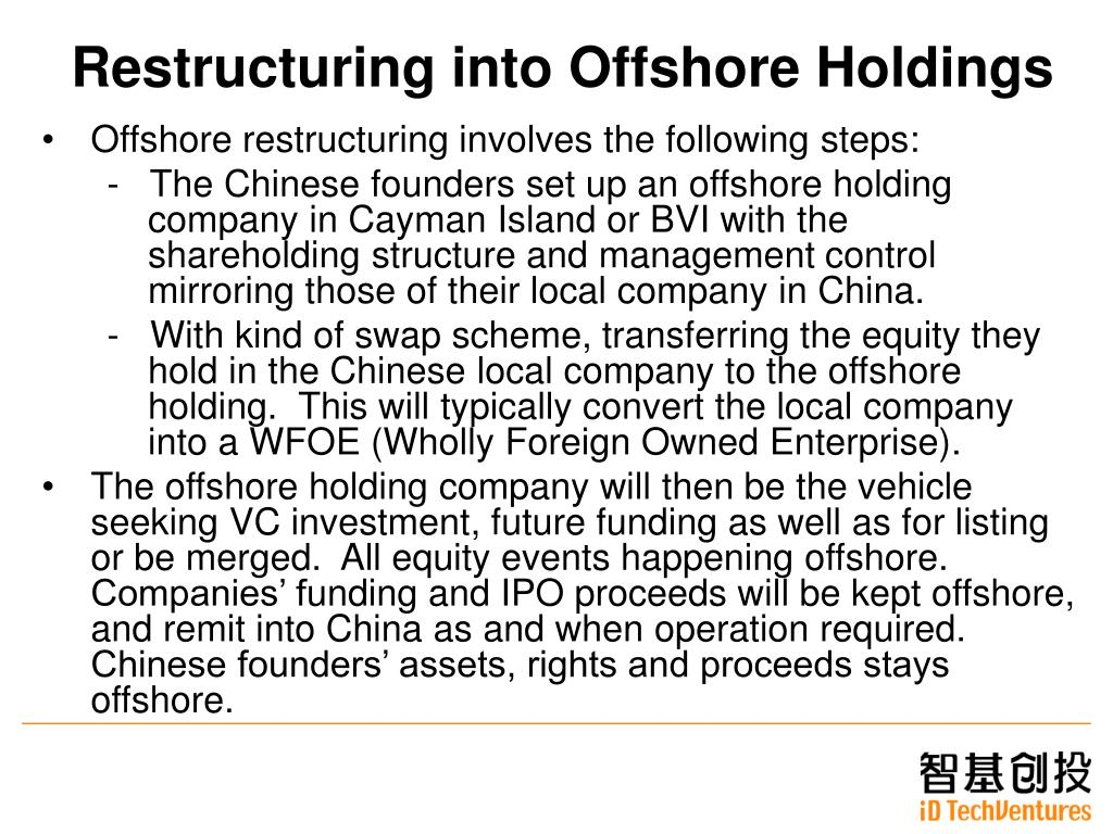 Restructuring into Offshore Holdings