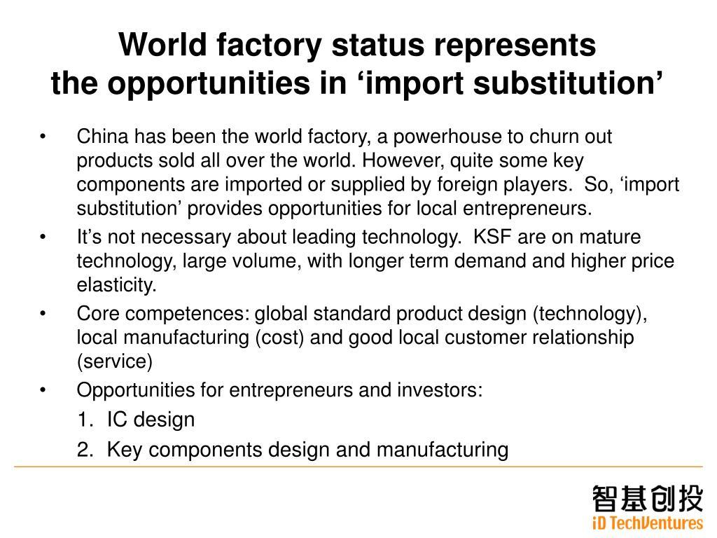 World factory status