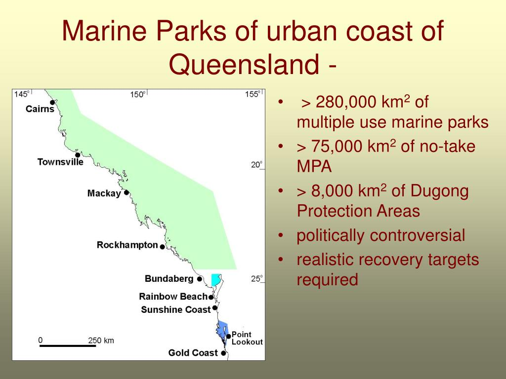 Marine Parks of urban coast of Queensland -