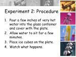 experiment 2 procedure