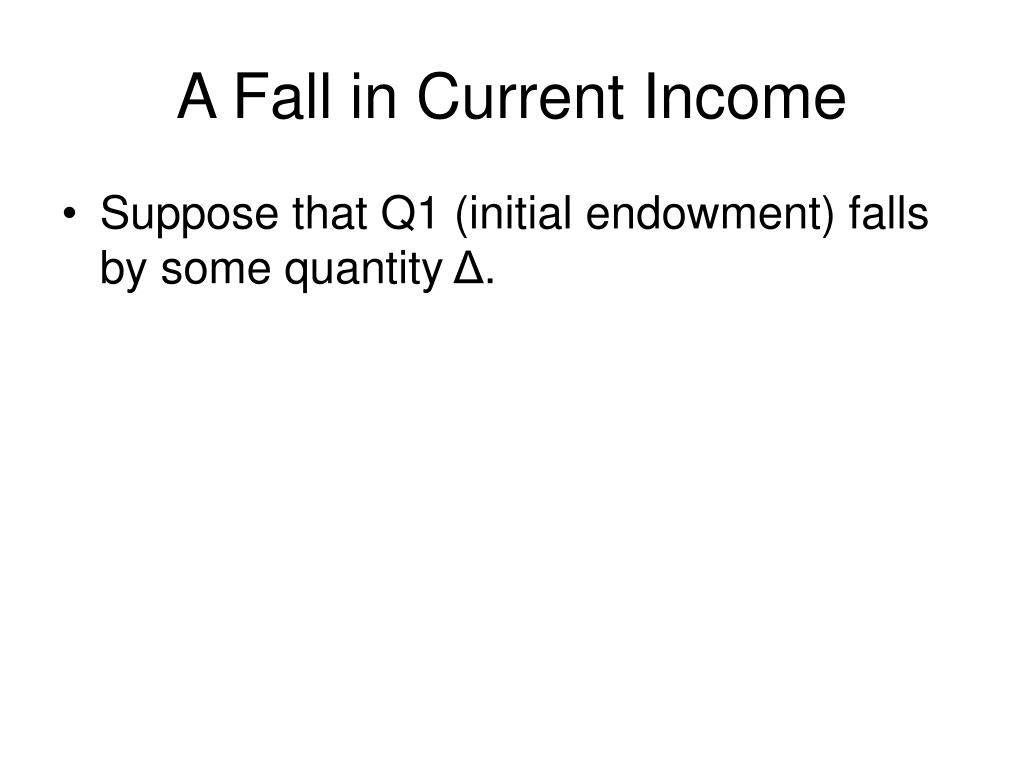 A Fall in Current Income