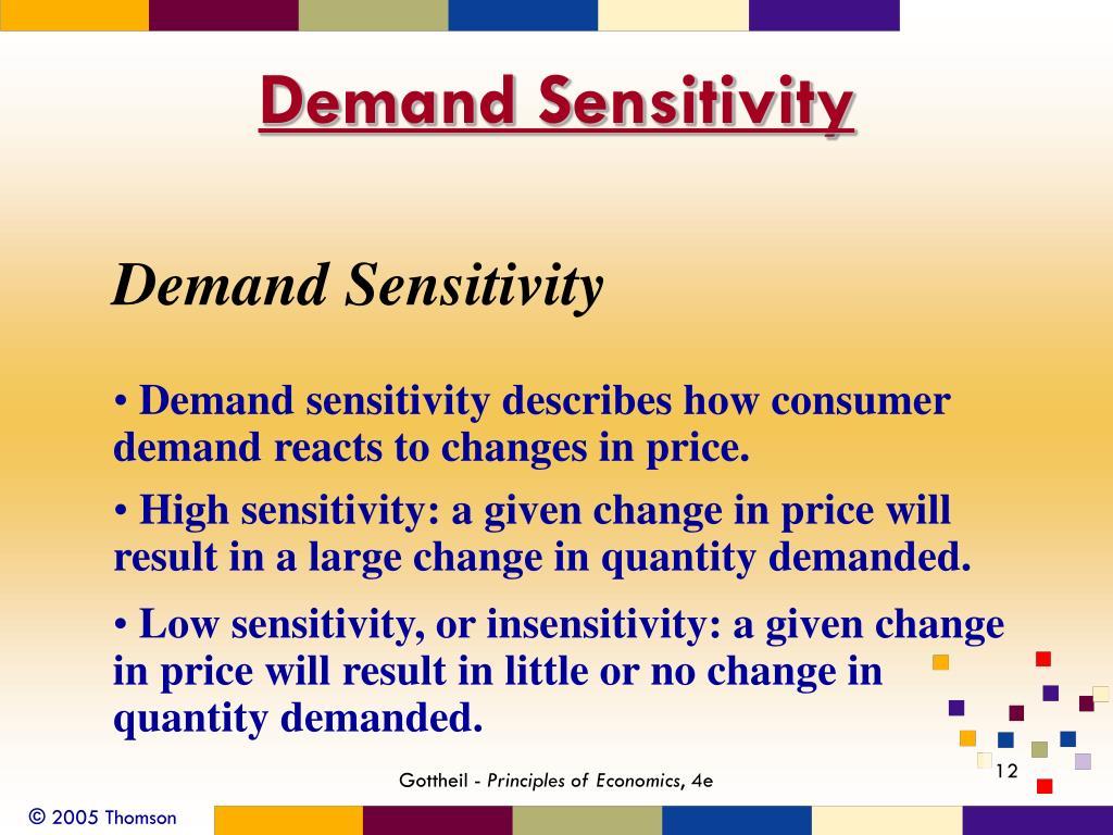 Demand Sensitivity