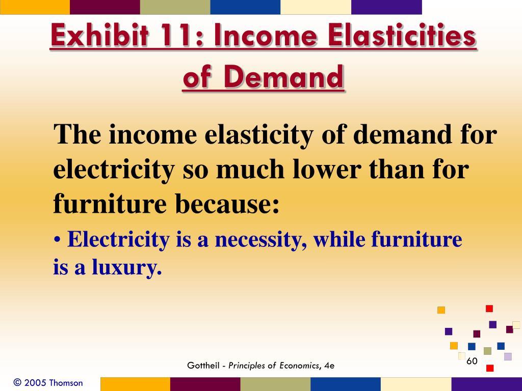 Exhibit 11: Income Elasticities