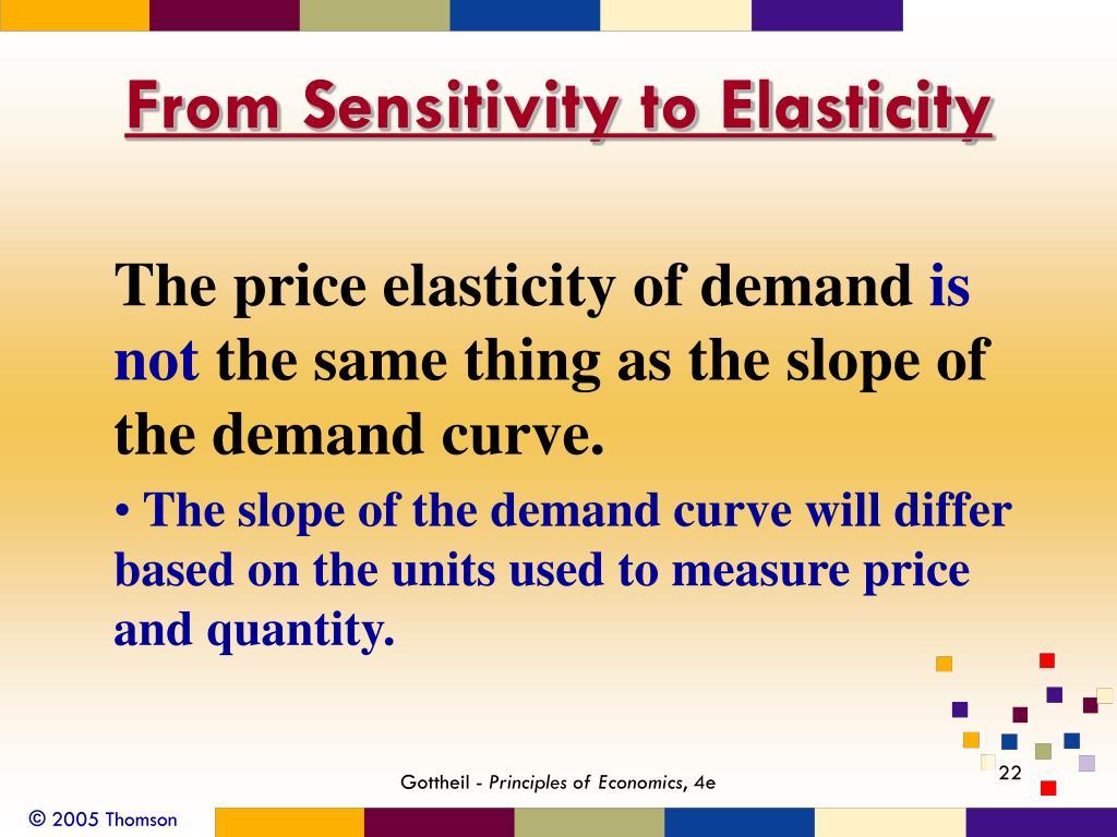 From Sensitivity to Elasticity
