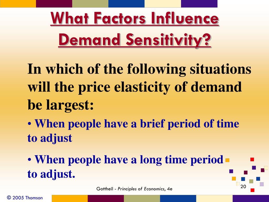 What Factors Influence Demand Sensitivity?