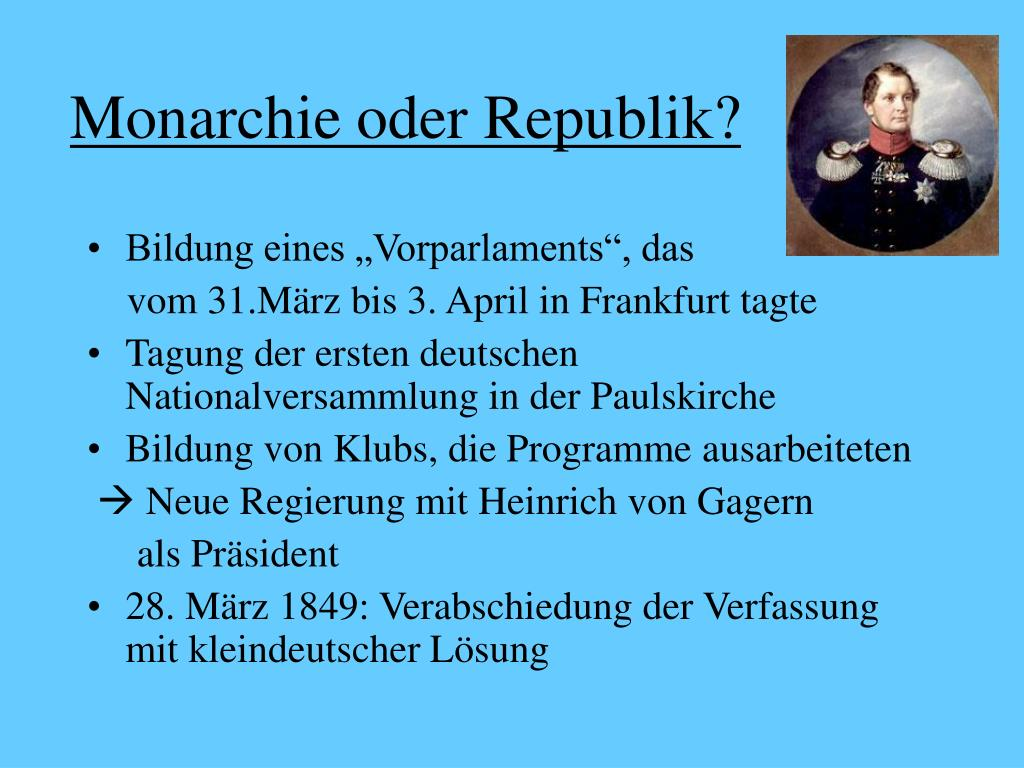 Monarchie oder Republik?