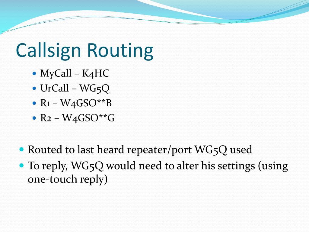 Callsign Routing