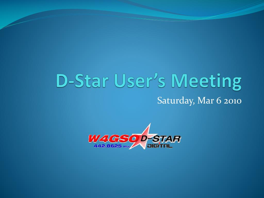 D-Star User's Meeting