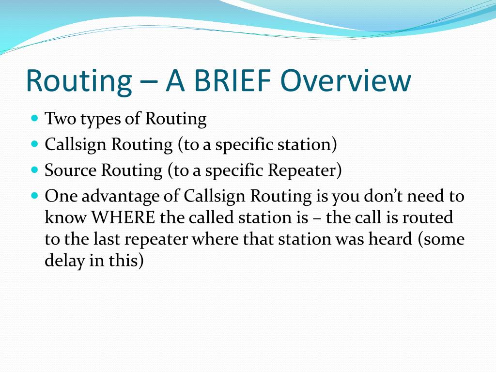 Routing – A BRIEF Overview