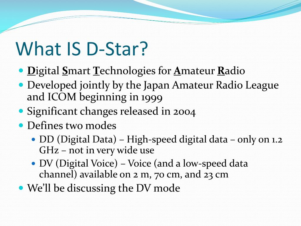 What IS D-Star?