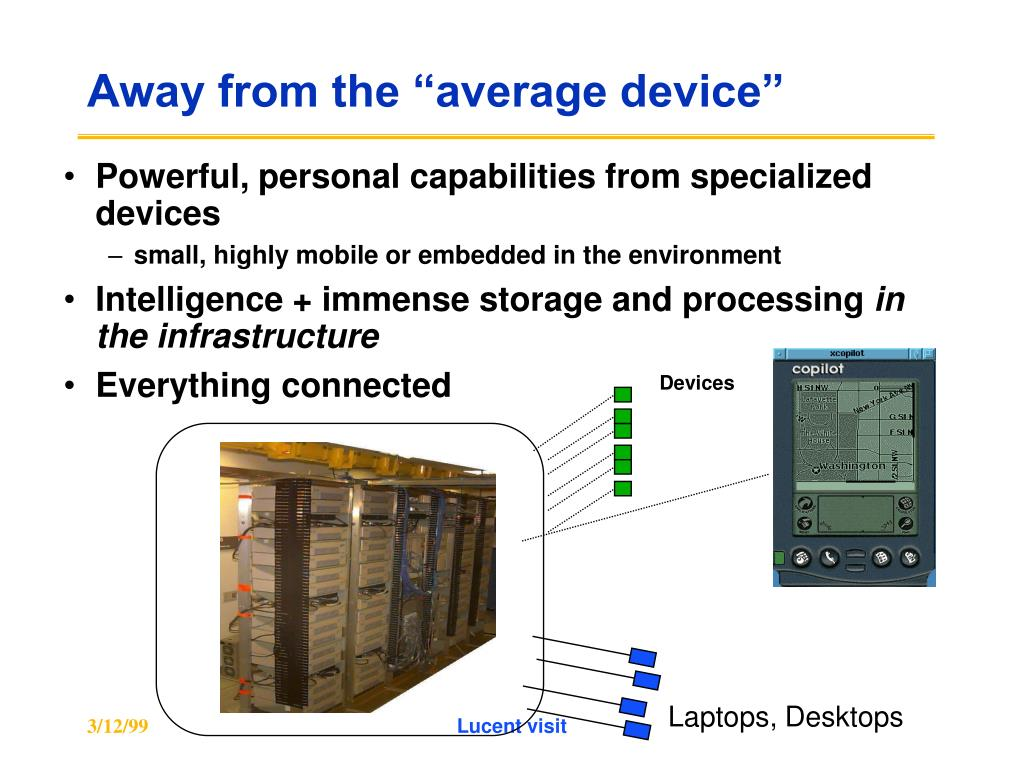 """Away from the """"average device"""""""