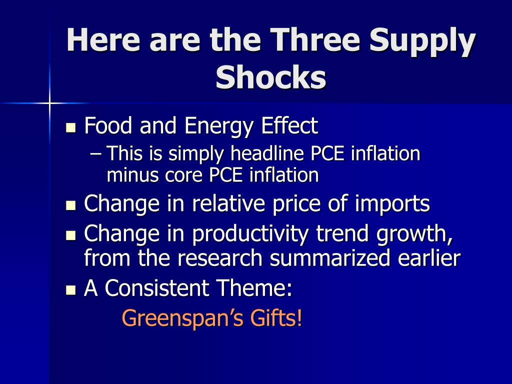 Here are the Three Supply Shocks