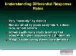 understanding differential response rates