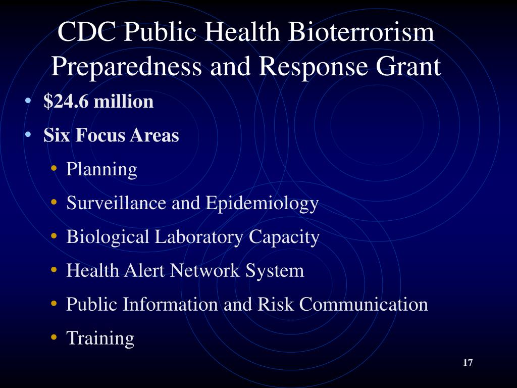 CDC Public Health Bioterrorism Preparedness and Response Grant