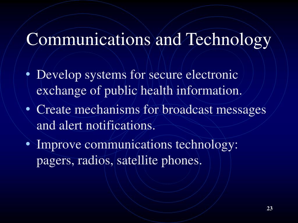 Communications and Technology