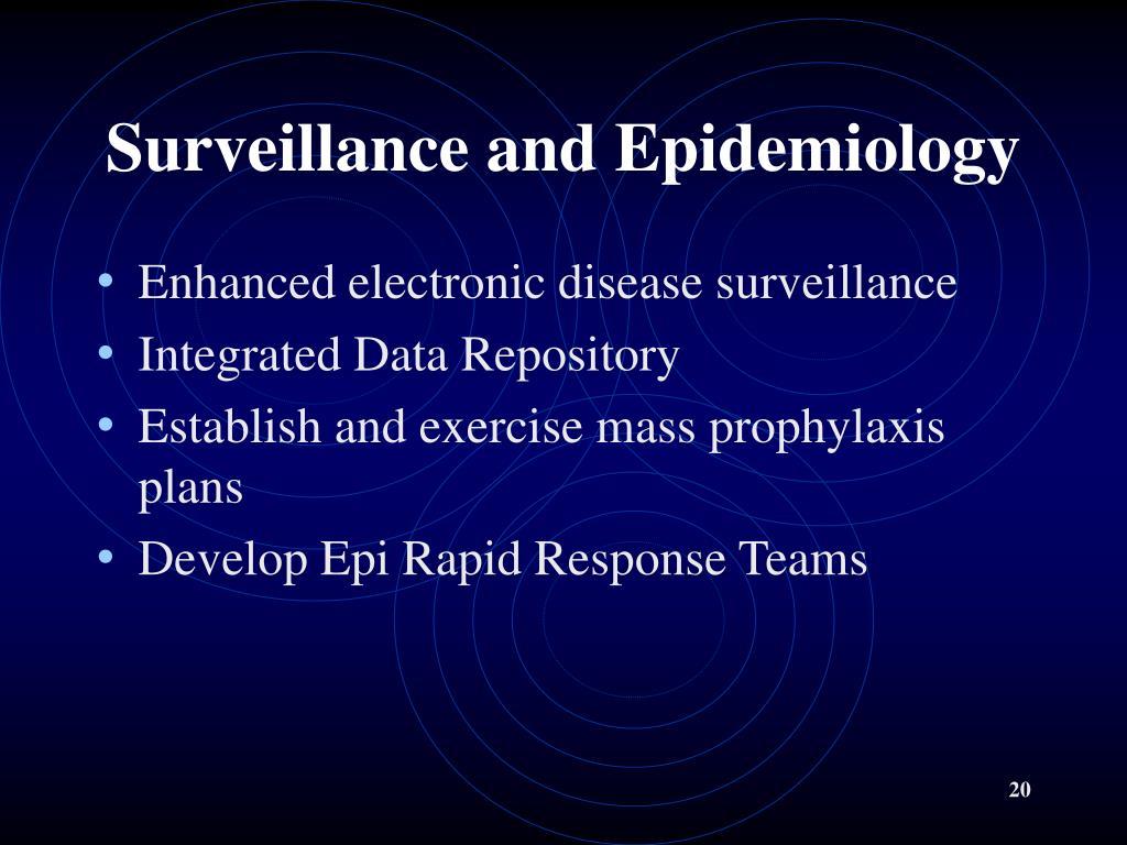 Surveillance and Epidemiology