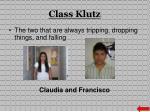 class klutz