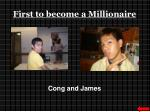 first to become a millionaire