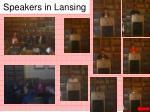 speakers in lansing