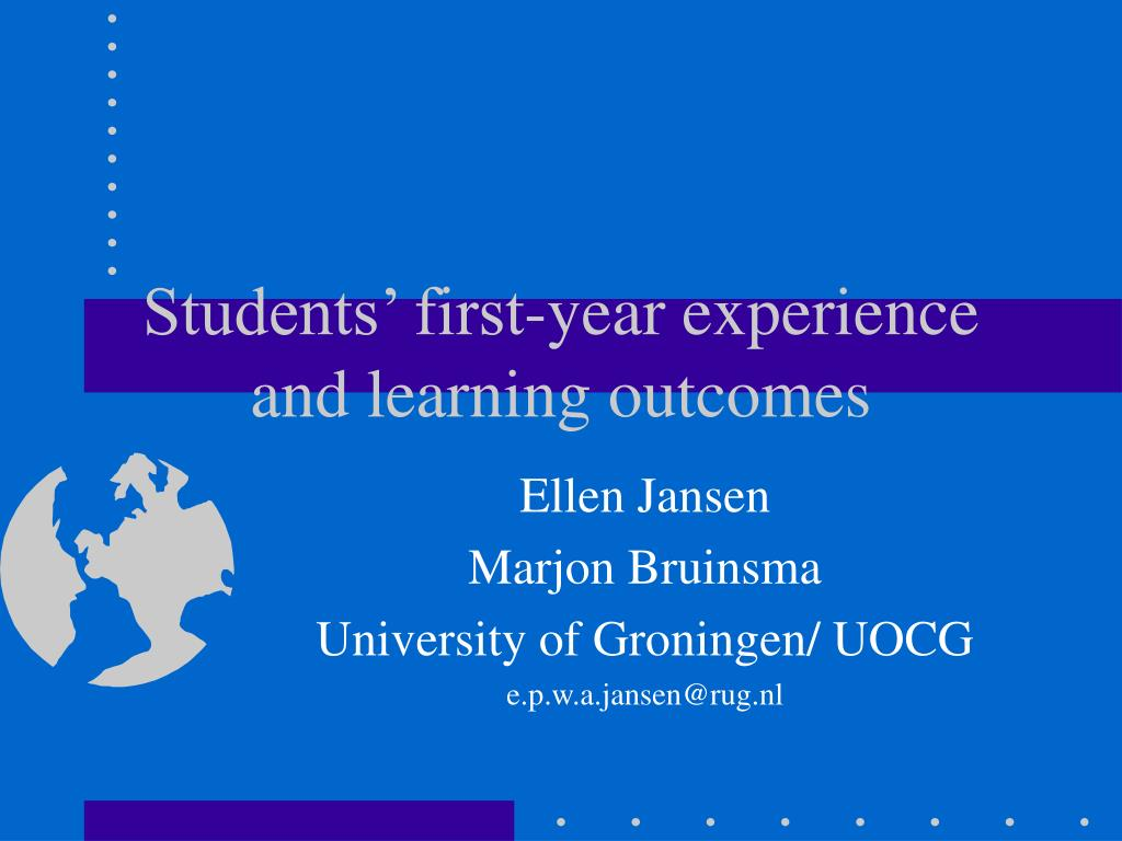 students first year experience and learning outcomes l.