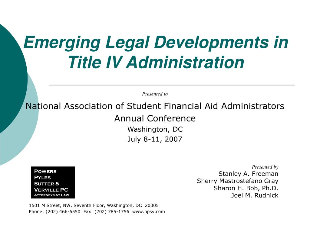 Emerging Legal Developments in Title IV Administration