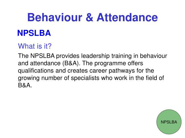 Behaviour attendance2
