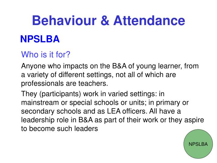 Behaviour attendance3