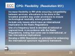 cpg flexibility resolution 951